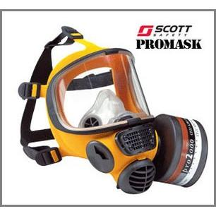 Zółta Silikonowa Całotwarzowa Maska Scott Promask SIL - EN136 sklep BHP