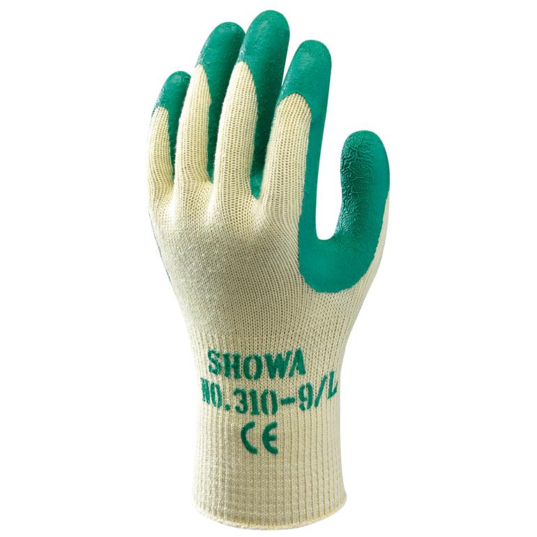 Rękawice Ochronne Powlekane Lateksem Showa Grip 310 - Zielone - EN 388 (2142) sklep BHP