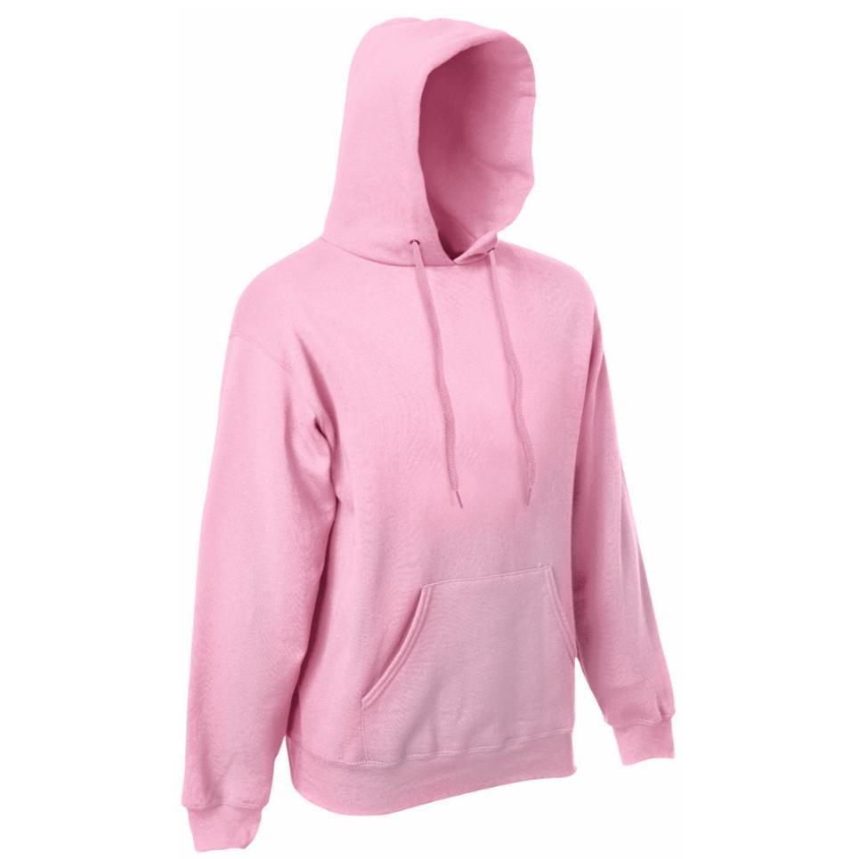 Męska Klasyczna Bluza z Kapturem Kangurka Fruit Of The Loom 280gmm² Kolor Różowy