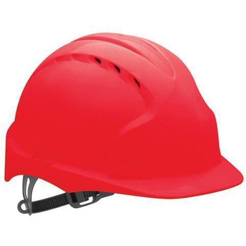 Kask Ochronny JSP EVO 3 Z Wentylacją - Regulacja Obwodu OneTouch - Kolor Czerwony - EN397 sklep BHP