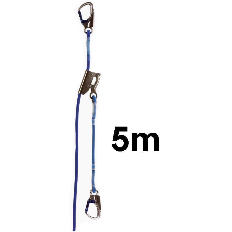 12mm Linka Asekuracyjna z Urządzeniem Zaciskowym IKAR - Długość linki 5m - EN1891 EN358 sklep BHP