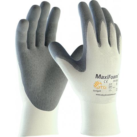 Rękawice Nitrylowe ATG MaxiFoam 34-800 - Powlekany spód dłoni - 25 cm - EN388 4131