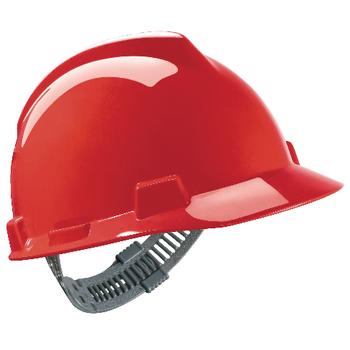 Czerwony Hełm Budowlany MSA V-Gard® - EN397 ANSI Z89.1 CSA Z94.1 sklep BHP