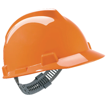 Pomarańczowy Hełm Budowlany MSA V-Gard® - EN397 ANSI Z89.1 CSA Z94.1 sklep BHP