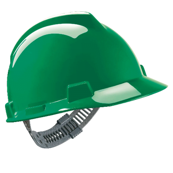 Zielony Hełm Budowlany MSA V-Gard® - EN397 ANSI Z89.1 CSA Z94.1 sklep BHP