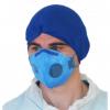Jednorazowa maseczka filtrująca koloru niebieskiego FFP2 NR z płaskim składaniem zaworu - 460-T026-A65 sklep BHP