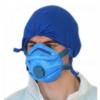 Jednorazowa filtrująca maska na twarz koloru niebieskiego FFP3 - 460-T471-A216 sklep BHP