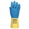 Rękawice lateksowe podwójnie zanurzone A801 - Żółty / niebieski - EN 374 EN 388 EN 420 - A801Y4R