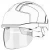 JSP - Zamiennik Zintegrowanej Osłony dla Kasków Ochronnych EVO® VISTAshield - AMV200